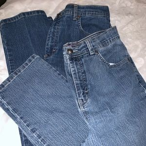 Two pairs Gloria Vanderbilt straight leg jeans